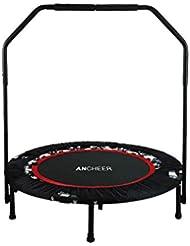 Ancheer Trampolin, Indoor Trampolin mit Haltegriff, Ideal für Fitness Heimtraining