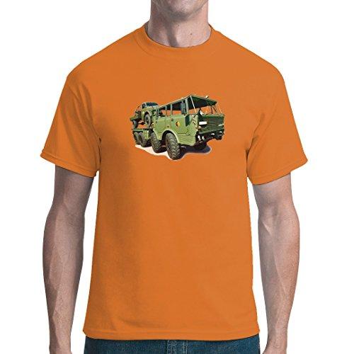 DDR Ossi unisex T-Shirt - LKW Tatra 813 Armee-Oliv by Im-Shirt Orange