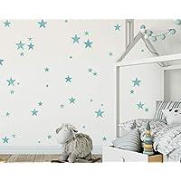 Stars Wall decals girl Wall Stickers Bambine Adesivi Murali Nursery Camerette Bimba Kit Stelle