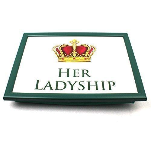 Schoß Tablett Portion Sitzsack TV Bett Weiche Kissen Gepolstert His Lordship & Her Ladyship - Sie...