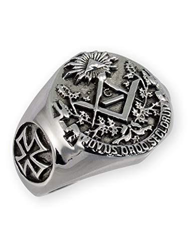 gelring Freimaurer Edelstahl Templer, Ring Grösse:22.9 mm ()