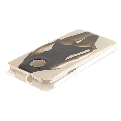Huawei Ascend Y330 Hülle,MCHSHOP Ultra Slim Skin Gel Schlank TPU Case Schutzhülle Silikon Silicone Schutzhülle Case Back Cover für Huawei Ascend Y330 - 1 Kostenlose Stylus Pen (Löwenzahn sich verliebe sexy mädchen mit einer hübschen hintern