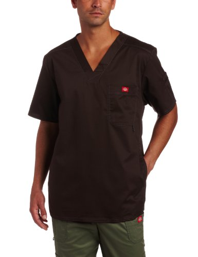 Dickies Herren Generation Flex Utility Scrubs V-Ausschnitt Shirt - Braun - 5X-Groß