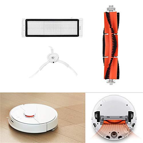Gaddrt Bürstenfilter Seitenbürsten Zubehör für XIAOMI Robot Vacuum Home Appliance Ersatz-waschbare Filter für Xiaomi Mi (C)