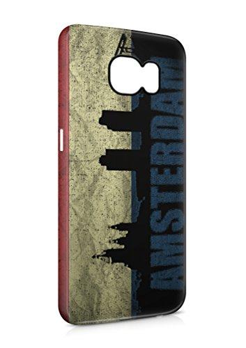 3D Samsung Galaxy S6 Holland Amsterdam Flipcase Tasche Flip Hülle Case Cover Schutz Handy