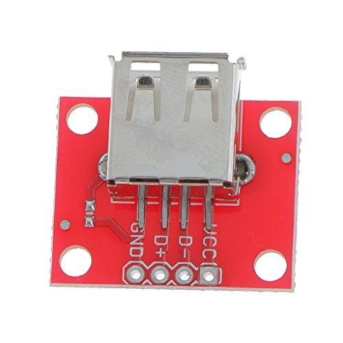 Breakout-modul (Gazechimp USB Typ A Buchse Breakout Aufladenaufladeeinheits Brett-Modul 5V Netz)