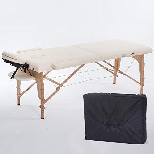 HONGHUIYU Faltbare massagebett Hause tragbare Massage Feuer behandlung Nadel moxibustion Bett Tattoo Tattoo schönheit Bett massivholz tragbar,beige -
