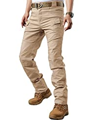 TACVASEN Tactical Baumwolle Herren Hose Slim Fit Urban Cargohose