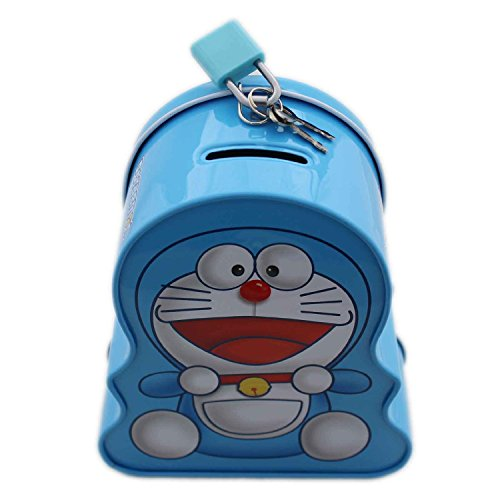 Wish Key Doreamon Design Blue Cute Coin atm piggy bank for Boys/Girls baby/kids  available at amazon for Rs.164