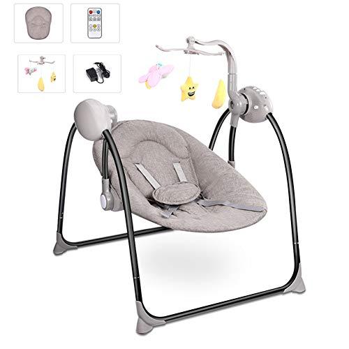 MOIMK Schaukel Stuhl Baby Schaukel Elektro Baby Wiege Mit Fernbedienung Wiege Schaukel Stuhl Für Neugeborene Schaukel Stuhl,Brown