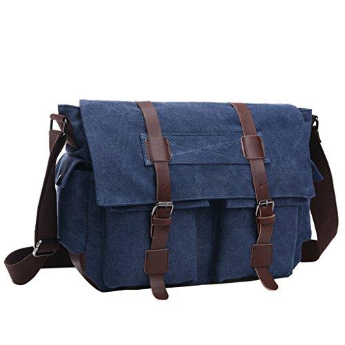 Super Modern Vintage Messenger Bag Military Canvas Tasche Freizeit Reisen Tasche Umhängetasche Schultertasche Khaki1