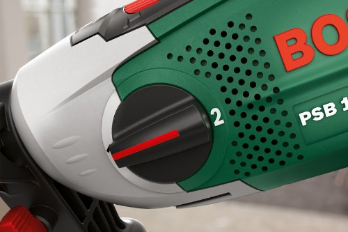 Bosch DIY Schlagbohrmaschine PSB 1000-2 RCE, Zusatzhandgriff, Tiefenanschlag, Koffer (1000 Watt, Max. Bohr-ø 1./2.Gang: Holz: 40/25 mm, Beton: 20/13 mm) - 8