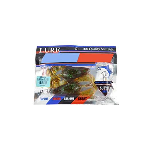 Lidahaotin 2ST 50x90mm Silikon Köder Frog-förmige weiche Fischköder künstliches gefälschte Köder Set Zubehör Karamell