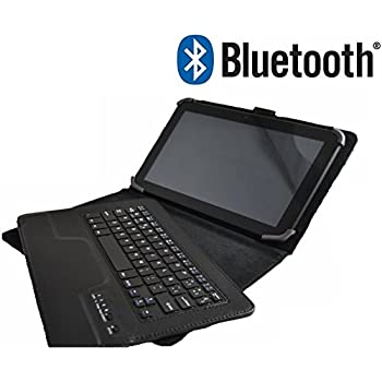 Theoutlettablet® Funda con Teclado Bluetooth Extraíble para Tablet Bq Edison 1,2,3 10.1