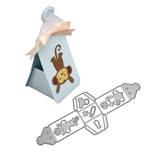 FNKDOR Stanzschablone Scrapbooking Embossing Machine Prägeschablonen Schablonen Stanzformen, Zubehör für Sizzix Big Shot und Andere Stanzmaschine (N)