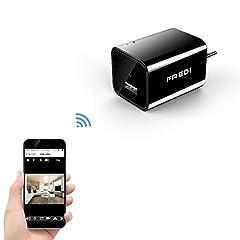 Idea Regalo - FREDI 1080P WIFI telecamera HD 128G adattatore caricatore con videocamera nascosta spia caricatore della parete telecamera di sorveglianza con ingresso USB wireless ip camera