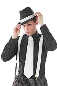 Weiße 20er Jahre Mafia Krawatte weiß Kostüm Mafiakrawatte edel