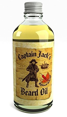 Captain Jack's Beard Oil Acondicionador en Aceite Para la Barba Captain Jack 100ml Edición Limitada Especial Fragancia Naranja Especiada (Spiced Orange)