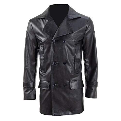 Jacke Kostüm Leder - Zhangjianwangluokeji Herren Leder Jacke Doctor 9th Cosplay Kostüme (XL, Schwarz)