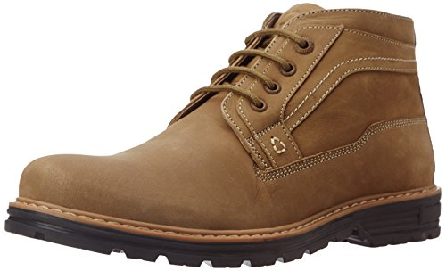 Weinbrenner Men's Scout High Beige and Yellow Leather Trekking and Hiking Boots - 9 UK (8568017)