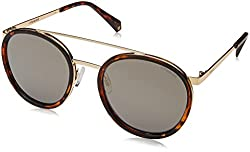 Polaroid Mirrored Round Womens Sunglasses - (PLD 6032/S 086 53LM|53|Gold Color)