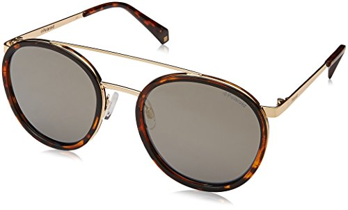 Polaroid Mirrored Round Women's Sunglasses - (PLD 6032/S 086 53LM|53|Gold Color) image