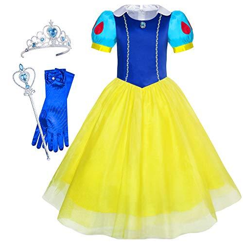 e Weiß Prinzessin Zubehör Krone Zauber Zauberstab Gr. 98 ()