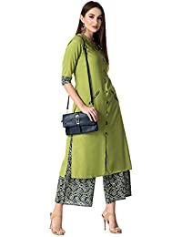 Khushal K Women's Rayon Kurta With Palazzo Set
