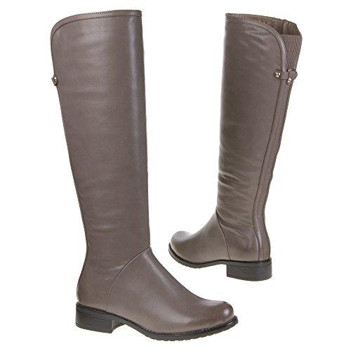 Stiefel Damenschuhe GEFÜTTERTE Kunst Fell BOOTS Farben: Schwarz Braun Grau Größen: 36 37 38 39 40 41 Grau