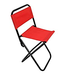 Portable Folding Chair with Backrest for Fishing, Camping, Hiking, Beach, Picnic etc