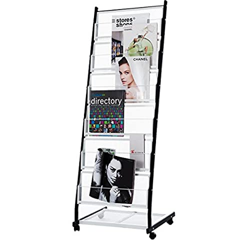 DXP Floor Standing Literature Magazine Display Stand Brochure Holder with 6 Shelves for Exhibition HJ-02 - Mostra Acrilico Contenitore