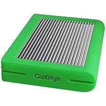 CalDigit Tuff USB-C - Disco Duro Externo De Uso Rudo Portátil USB 3.1 Tipo-C, Compatible Con Thunderbolt 3 (Verde)