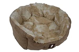 Yap Delicato Giraffe Faux Suede Oval Bed, 26 inch by Yap