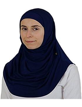 miaoma para mujer ligero Poly algodón hijab bufanda–azul marino