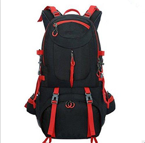LWJgsa Sport Ihre Taschen Wandern Zelten Taschen Männer Und Frauen Großer Reiten Rucksack Schwarz