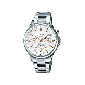 Casio Sheen Analog White Dial Women's Watch – SHE-3047D-7AUDR (SX166)