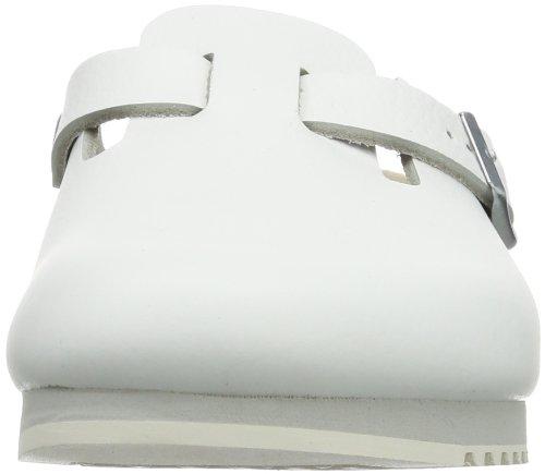 Birkenstock Classic Boston Leder Unisex-Erwachsene Clogs Weiß