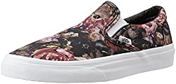 Vans Unisex Classic Slip-On Moody Floral, Black and True White Loafers and Moccasins - 5 UK/India (38 EU)