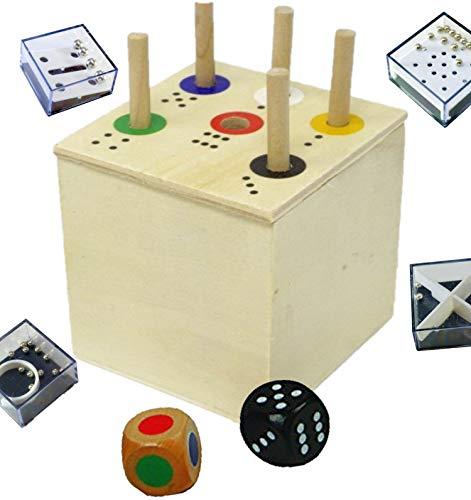 Ab in die Box Spiel Gratis 1 Minis Balance Spiel   Spaß für die ganze Familie und für Kinder ab 2 zum Lernen von Zahlen und Farben   Lernspiel   Würfelspiel   Reisespiele für unterwegs (Würfel-box-spiel)