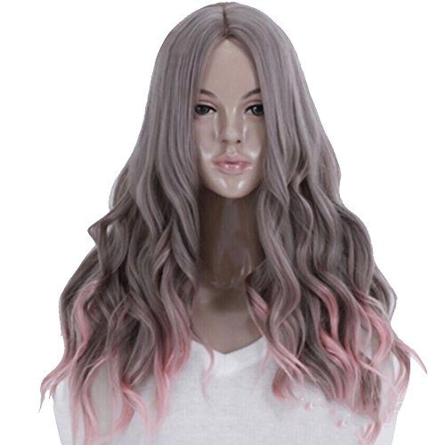 lang peruecke Vococal®Sexy lange gewellte Langhaarperücke,Gewellte Lockiges Haar, 65 cm lang (Marionette Kostüm Halloween)