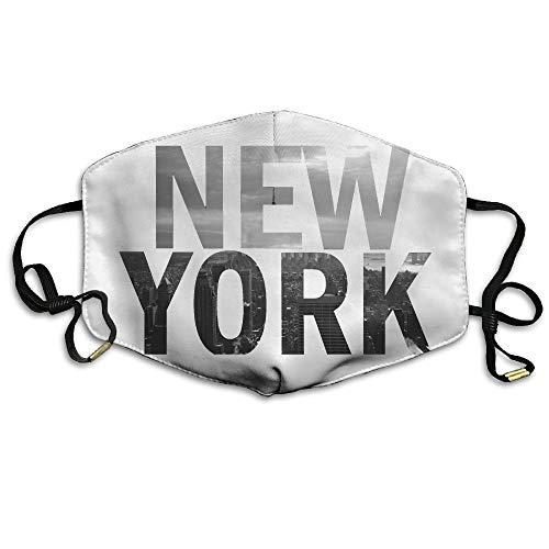 Masken, Masken für Erwachsene, Unisex New York City Mouth Face Masks Women Amusing Motorcycle Anti Dust Face Mouth Mask-Reusable Mens (Bush-maske)