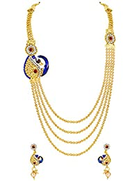 [Sponsored]MFJ Fashion Jewellery Peacock Collection Gold Plated Necklace Set For Women