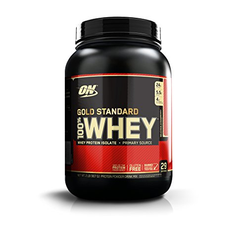 Optimum Nutrition Gold Standard 100% Whey Proteína en Polvo, Fresa - 908 g
