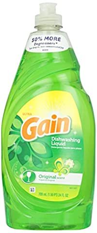 Gain Ultra Dishwashing Liquid, Original Scent - 24 Fl. Oz.