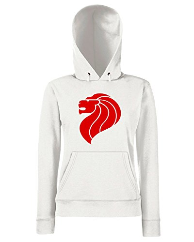 T-Shirtshock - Sweats a capuche Femme TM0241 singapore lion flag Blanc