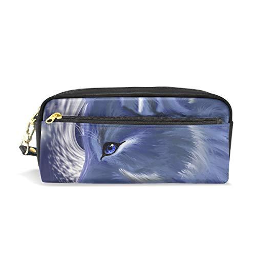 Bonipe Wolf Federmäppchen Stiftebox Tasche Tasche für Schule Schreibwaren Zubehör Reise Kosmetik Make-up Tasche