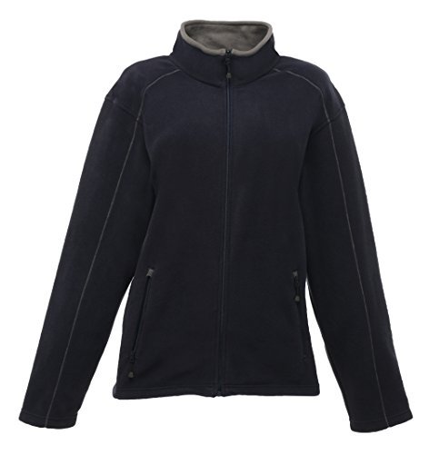 Frauen Adams Full Zip Fleece Navy / Smokey