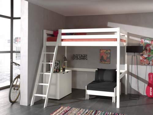 Hochbett Holz Weiß 140x200 : ᑕ❶ᑐ hochbett 140x200 ▻ bestseller für ihr schlafparadies ✓das