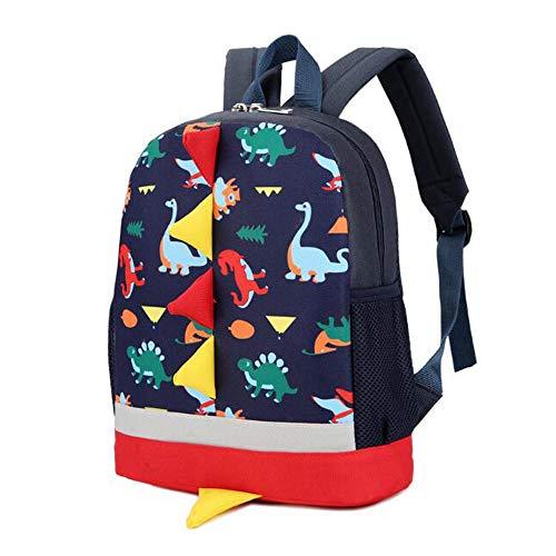GHH Schultüten Für Kindergartenkinder Casual Pouch Niedliche Reise Softball-Rucksäcke Dinosaurier Muster Tiere Rucksack Für Baby-Jungs Mädchen,Black (Softball-rucksäcke)