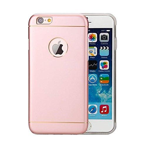 Besta Curved Slim couvercle en métal Aluminium + Inner Case TPU souple pour iphone5 5s/iPhone SE,Housse de protection pour haute qualité Apple iPhone 5 5s/iPhone SE -Gris A/Rose Gold